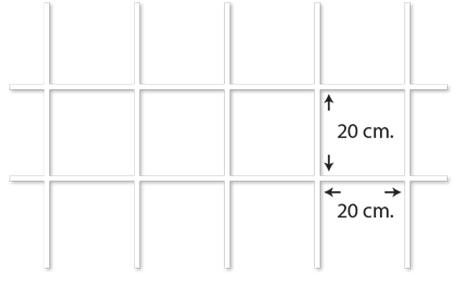 ตัวอย่างไวร์เมช Wiremesh ตา 20